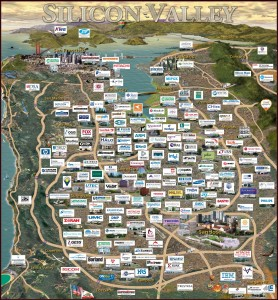 Mapa tecnologico de Silicon Valley