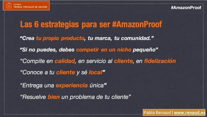 Las 6 ideas de estrategia ecommerce Amazonproof por Pablo Renaud