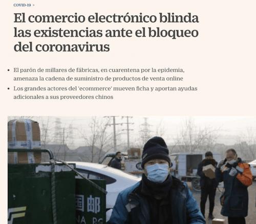 Artículo sobre el coronavirus y su impacto en ecommerce