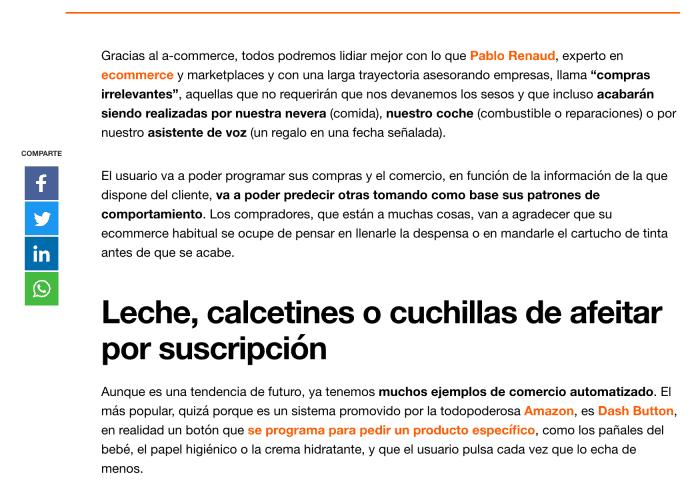 Artículo de Pablo Renaud en Blog de Orange