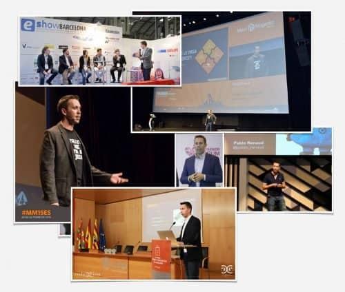 Eventos y conferencias de Pablo Renaud sobre ecommerce