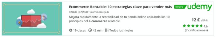 Curso online de ecommerce de Pablo Renaud en Udemy