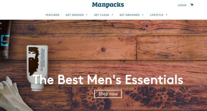 Ecommerce de suscripción de nicho - Manpacks