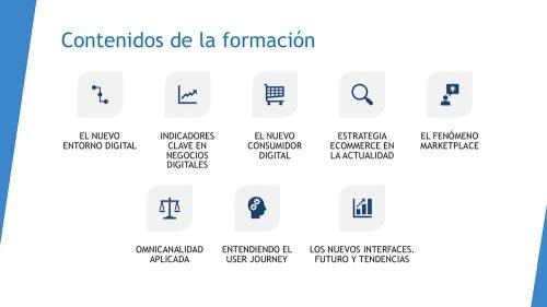 Contenidos de la formación sobre ecommerce y marketplaces - 2