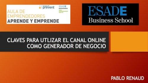 Formación en ESADE sobre ecommerce, negocio online.