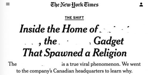 Artículo en The New York Times sobre el fenómeno