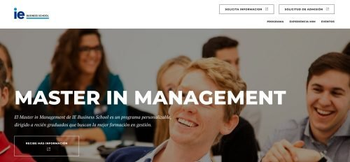 Master in Management en IE Business School