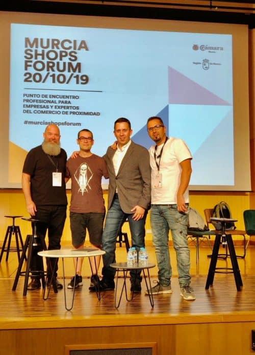 Pablo Renaud, Jose Carlos Cortizo y Jordi Ordeñez en Murcia Shops Forum