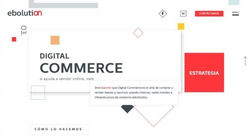 Web de Ebolution - agencia de ecommerce